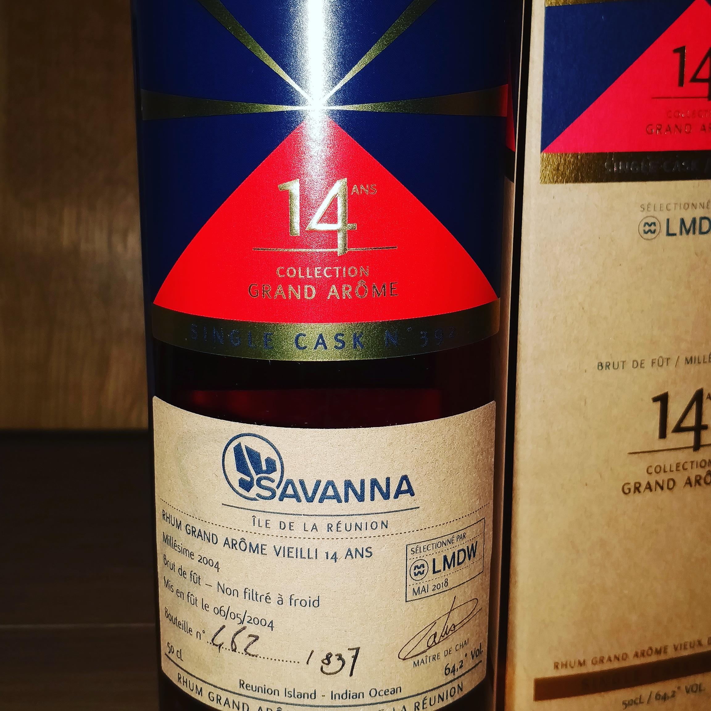 Savanna 14 ans Grand Arôme  single cask 392